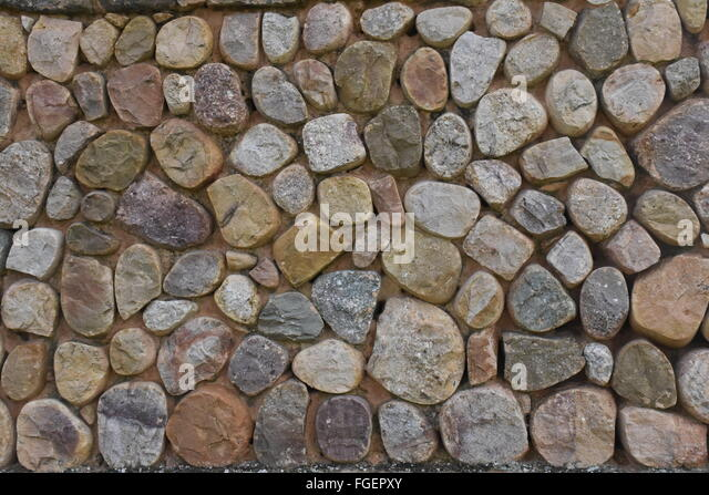 stone wall at Tricio La Rioja Spain - Stock Image