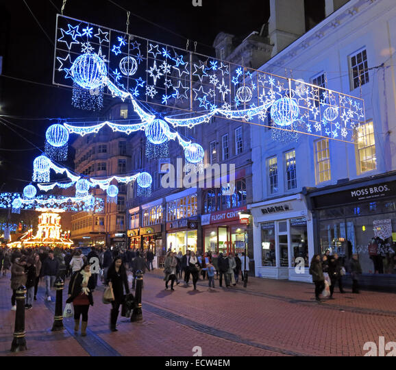 Christmas Lights In Birmingham, West Midlands, England,UK - Stock Image