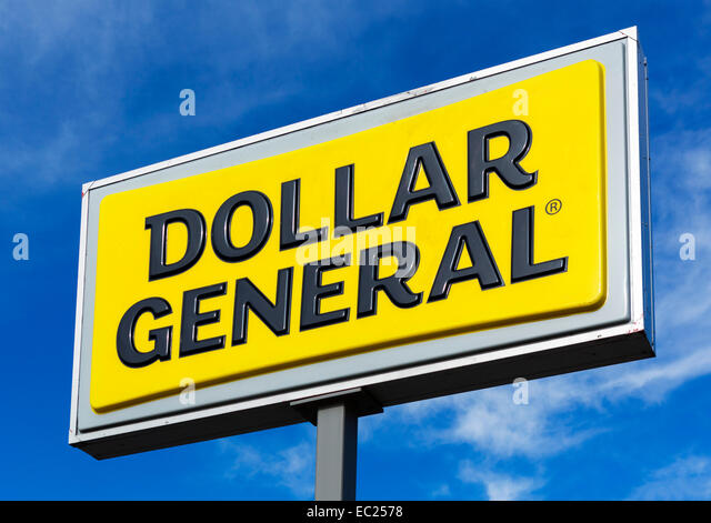 Dollar General store sign, USA - Stock Image