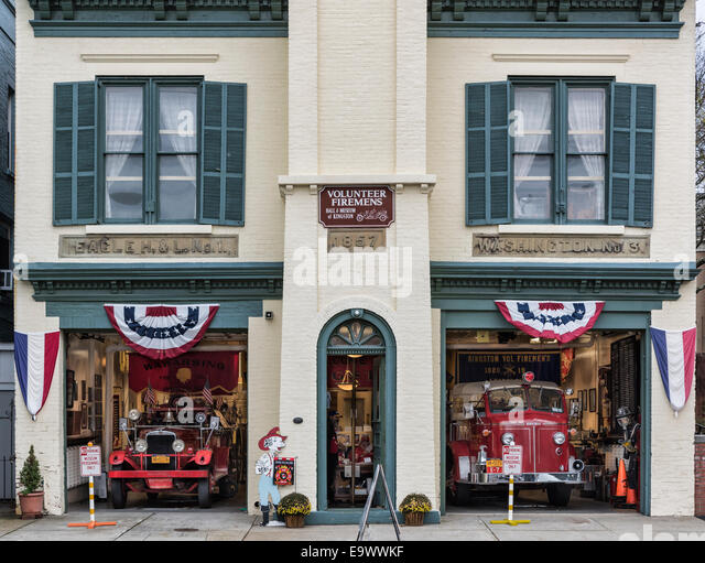 Volunteer Firemen's Hall & Museum of Kingston, New York, USA - Stock Image