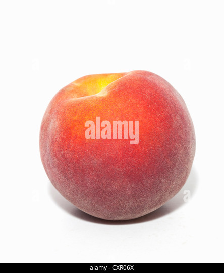 Whole peach - Stock Image