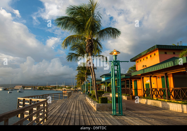 The harbour of Ponce, Puerto Rico, West Indies, Caribbean - Stock Image