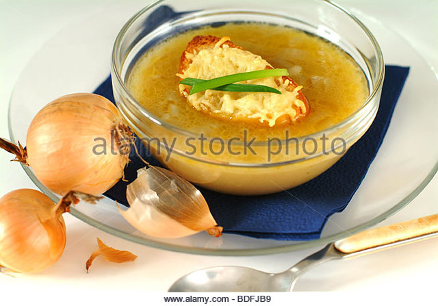 Gratinée des Halley - French Onion Soup - Stock Image
