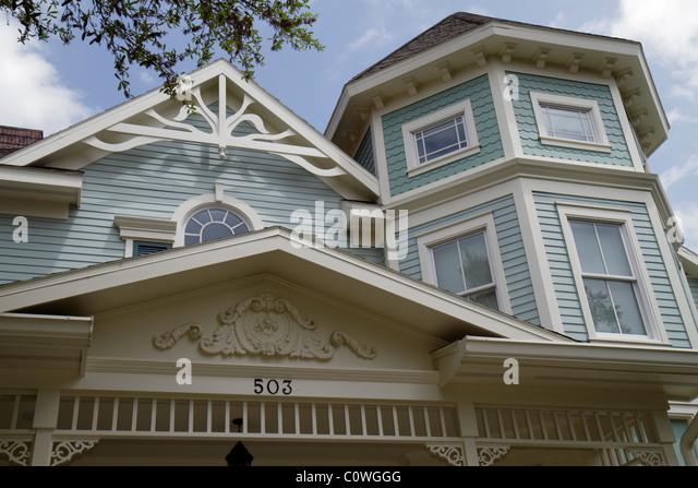 Orlando Kissimmee Orlando Florida Celebration Victorian-style house home - Stock Image