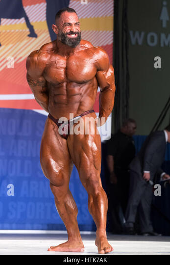 March 3rd 2017, Columbus, OH, USA; Guy Cisternino (8) competes in the Arnold Classic 212 as part of the Arnold Sports - Stock-Bilder