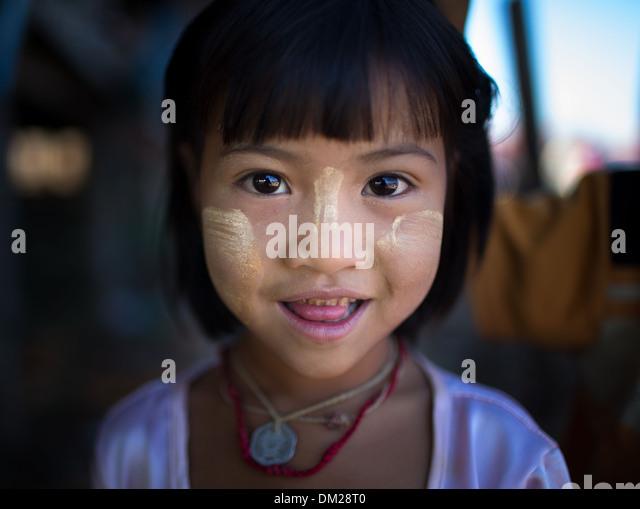 girl at Inle Lake, Myanmar (Burma) - Stock-Bilder