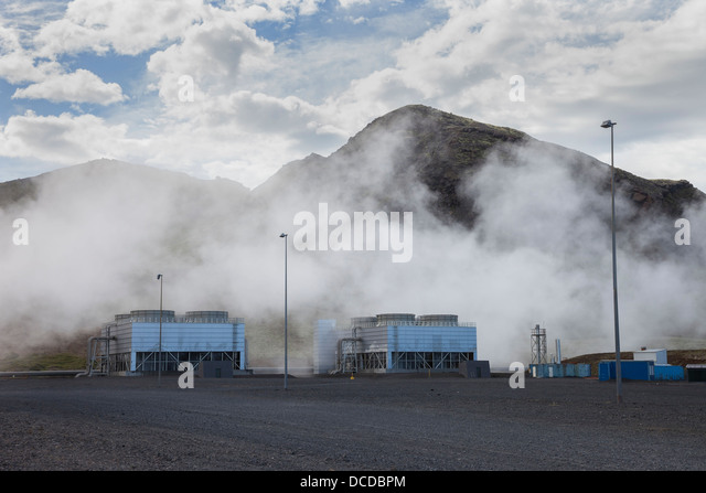 The Hellisheidarvirkjun Geothermal Power Station in Southern Iceland - Stock Image