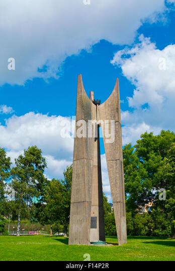 Merenkulkijoiden ja mereen menehtyneiden muistomerkki (1968), memorial to dead sailors, Ursinin kallio, Eira, Helsinki, - Stock Image