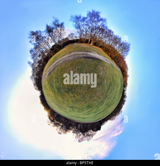 Park with little planet effect - Stock Image