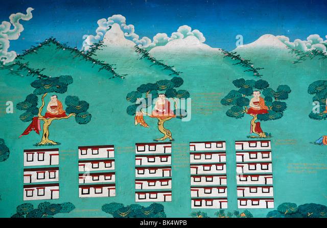 The Myth of Shangri La, Kopan monastery, Kathmandu, Nepal, Asia - Stock Image
