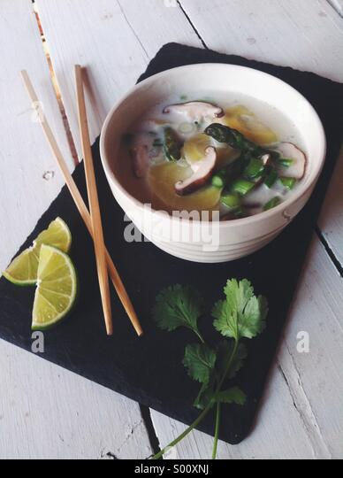 Coconut soup - Stock Image