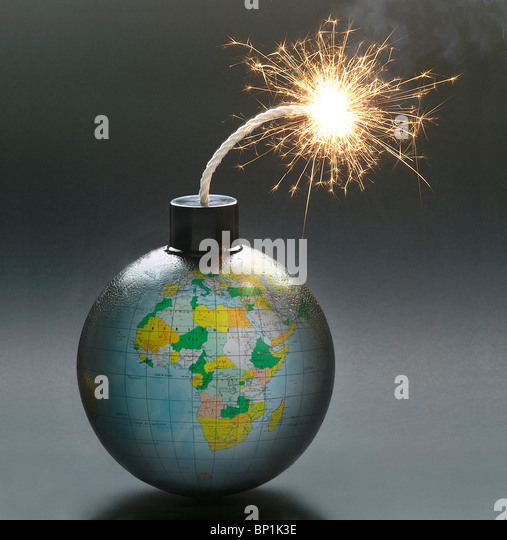 Globe bomb - Stock Image