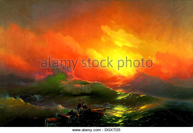 The Ninth Wave - Ivan Aivazovski, 1850 - Stock-Bilder