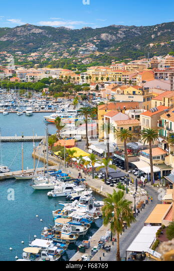Calvi Marina, Balagne, West Coast, Corsica Island, France - Stock Image