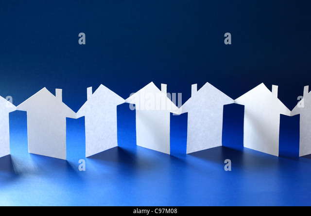 Paper chain community - Stock Image
