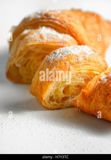 Sliced fresh and tasty croissant - Stock Image