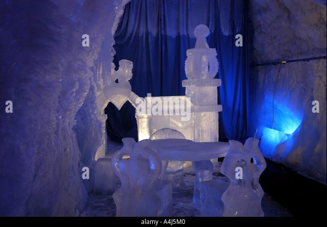 Switzerland Klein Matterhorn Ice Grotto - Stock Image