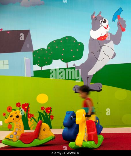 Toys in kindergarten, preschool - Stock Image