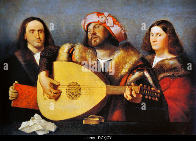 Concert - by Giovanni Cariani, 1520 - Stock Image