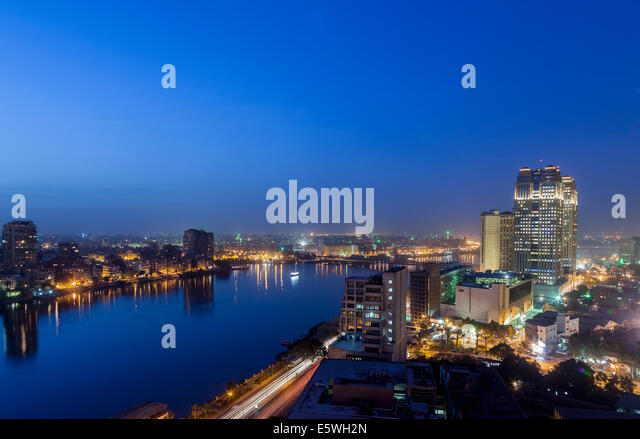 Cairo, Egypt at night - Stock Image