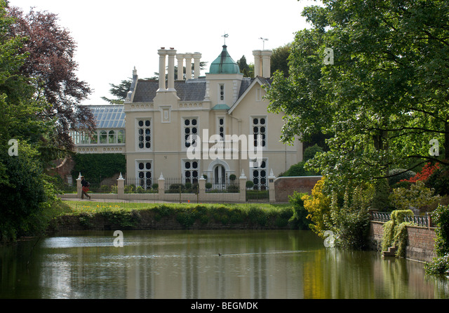 House With Moat Stock Photos House With Moat Stock