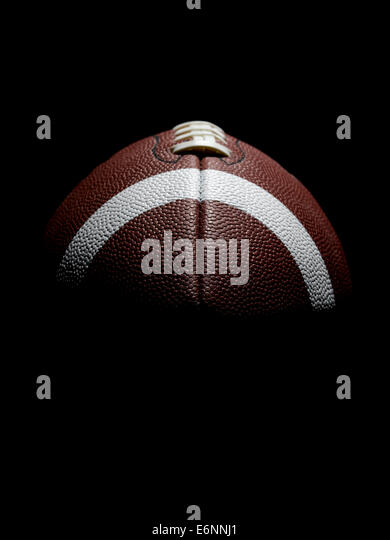 American football in black - Stock Image