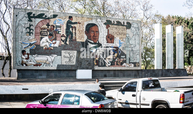 Mexican mural revolution stock photos mexican mural for Benito juarez mural