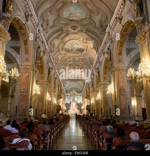 Metropolitan cathedral of santiago stock photos - Interior santiago de compostela ...