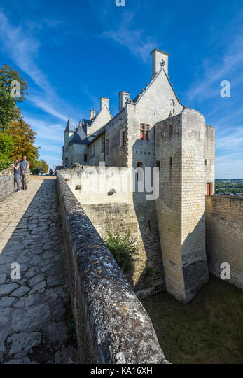 The Royal Quarters, Chateau Chinon, France. - Stock Image