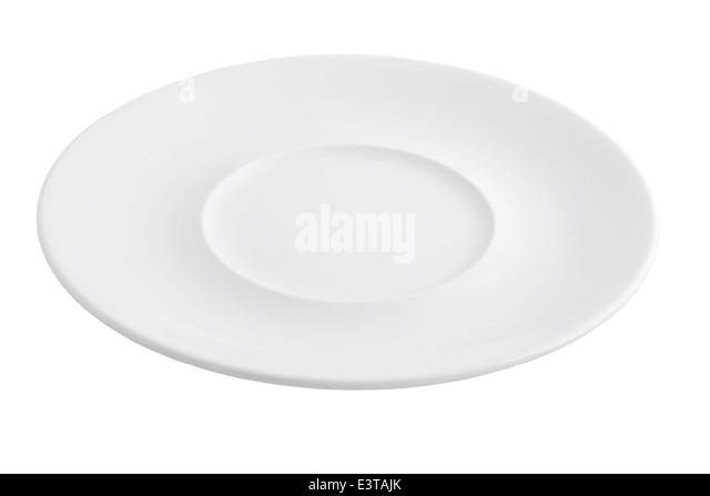 Round Entree Plate - Stock Image
