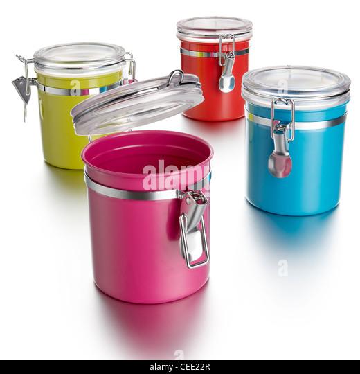 Kitchen Storage jars - Stock Image