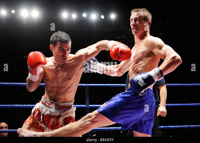 Muay Thai Kick boxing - Stock Image