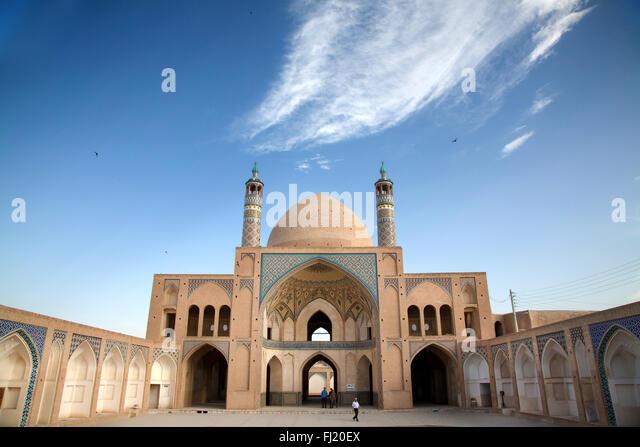 Agha Bozorg mosque, Kashan - Stock Image