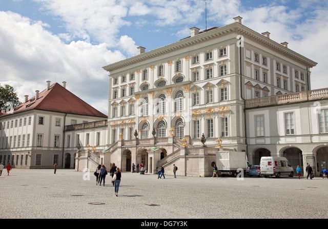 Schloss Nymphenburg in Muenchen, Bayern, Deutschland | Nymphenburg Palace in Munich, Bavaria, Germany - Stock-Bilder