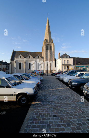 Veigné church, Indre et Loire, France. - Stock Image