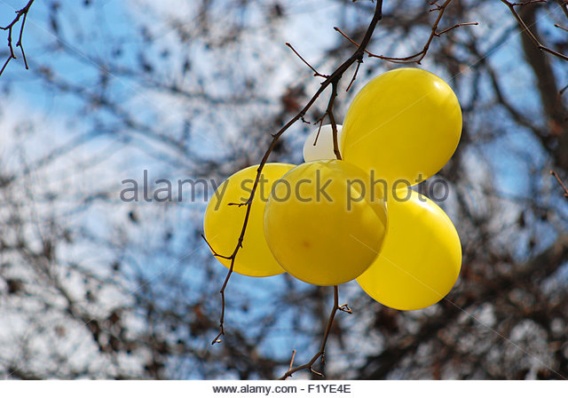 Picture of a colorful baloons - Stock Image