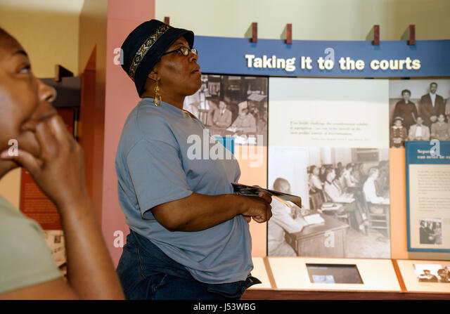 Little Rock Arkansas Central High School National Historic Site 1957 desegregation crisis Black History African - Stock Image