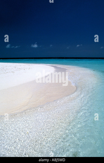 Tropical Islands white sand beach - Stock Image