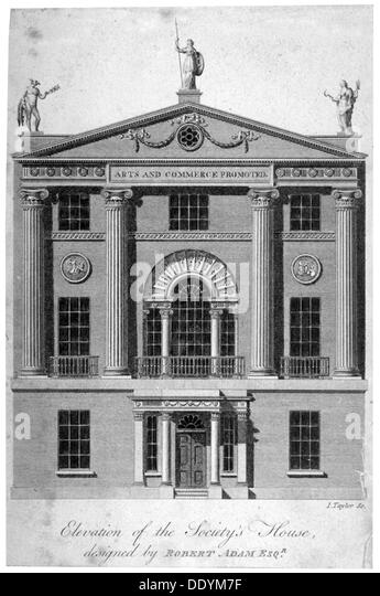 Front Elevation Of Houses In London : Society of arts stock photos