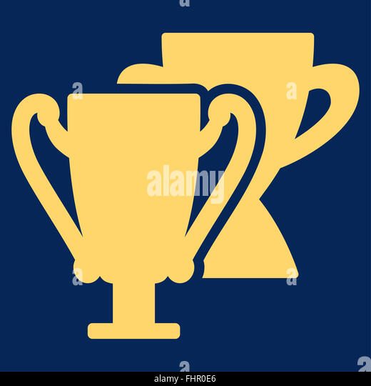 Trophy cups icon from Competition amp; Success Bicolor Icon Set - Stock Image