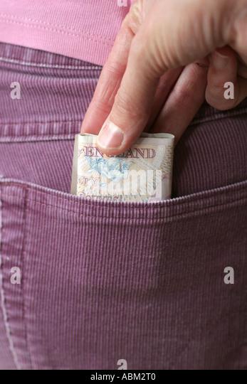 pick pocket - Stock Image