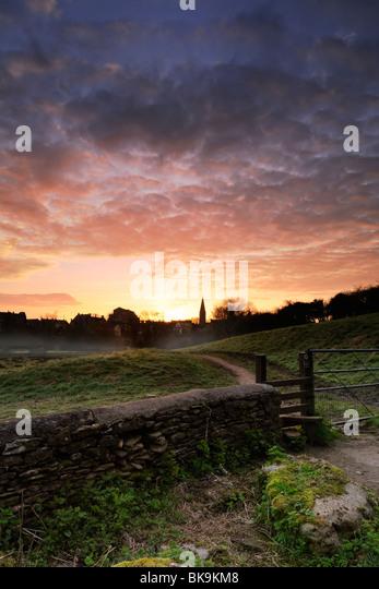 Malmesbury at dawn - Stock Image