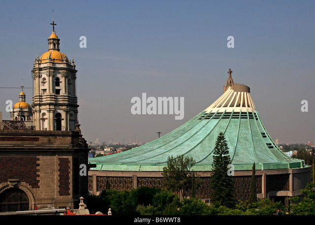 Mexico, Mexico City. The Basilica of Guadalupe, seen as the second most important sanctuary of Catholicism after - Stock Image