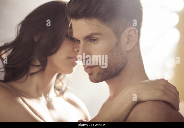 Handsome brunet with his sensual wife - Stock-Bilder
