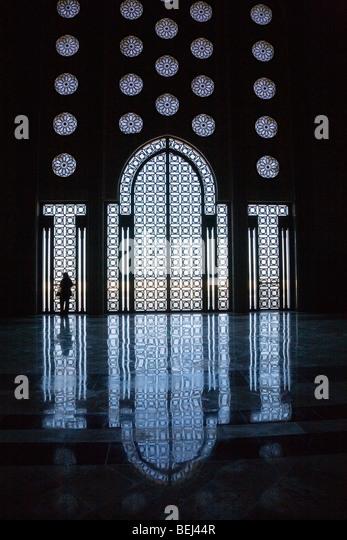 Interior of Hassan II mosque Casablanca Morocco - Stock Image