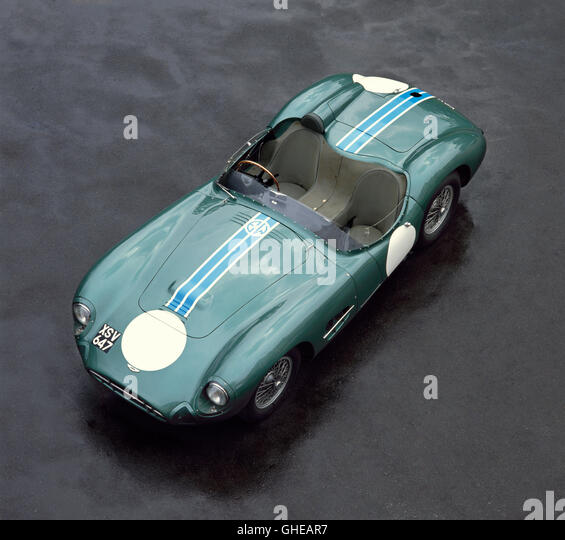 1957 Aston Martin DBR2 4 2 litre sports racing car Straight 6 engine developing 254bhp Ex Stirling Moss Country - Stock Image
