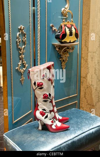 Miu Miu Miuccia Prada Paris Rue Faubourg Saint Honoré France fashion designer couturier - Stock-Bilder