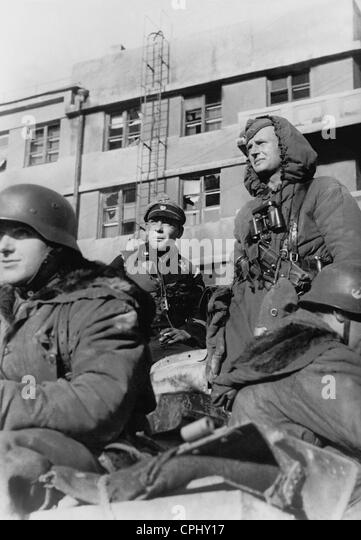 Waffen-SS during the reconquest of Kharkov, 1943 - Stock-Bilder
