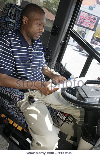 Arkansas Hot Springs Central Avenue Hill Wheatley Plaza Black man bus driver job transport charter studies schedule - Stock Image