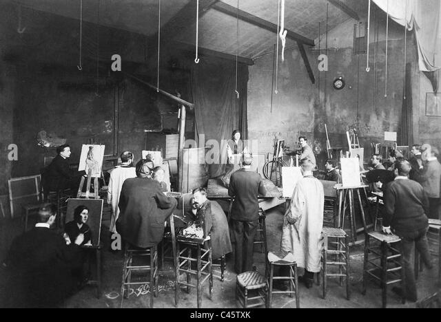 Studio of the Paris Academy of the Arts - Stock-Bilder